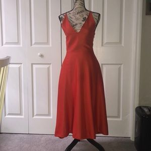 Kate Spade Saturday orange spaghetti strap dress